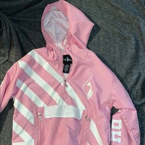 Pink and White Baby Phat Windbreaker